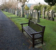 Park Bench at Dean Cemetery